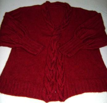 Damen-Pullover-Jacke, gestrickt aus Supreme Possum Merino Wolle