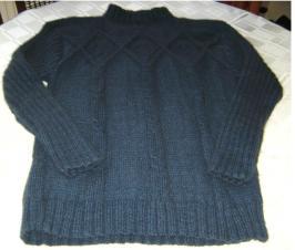 Irish Men's Pullover Possum Merino Woole
