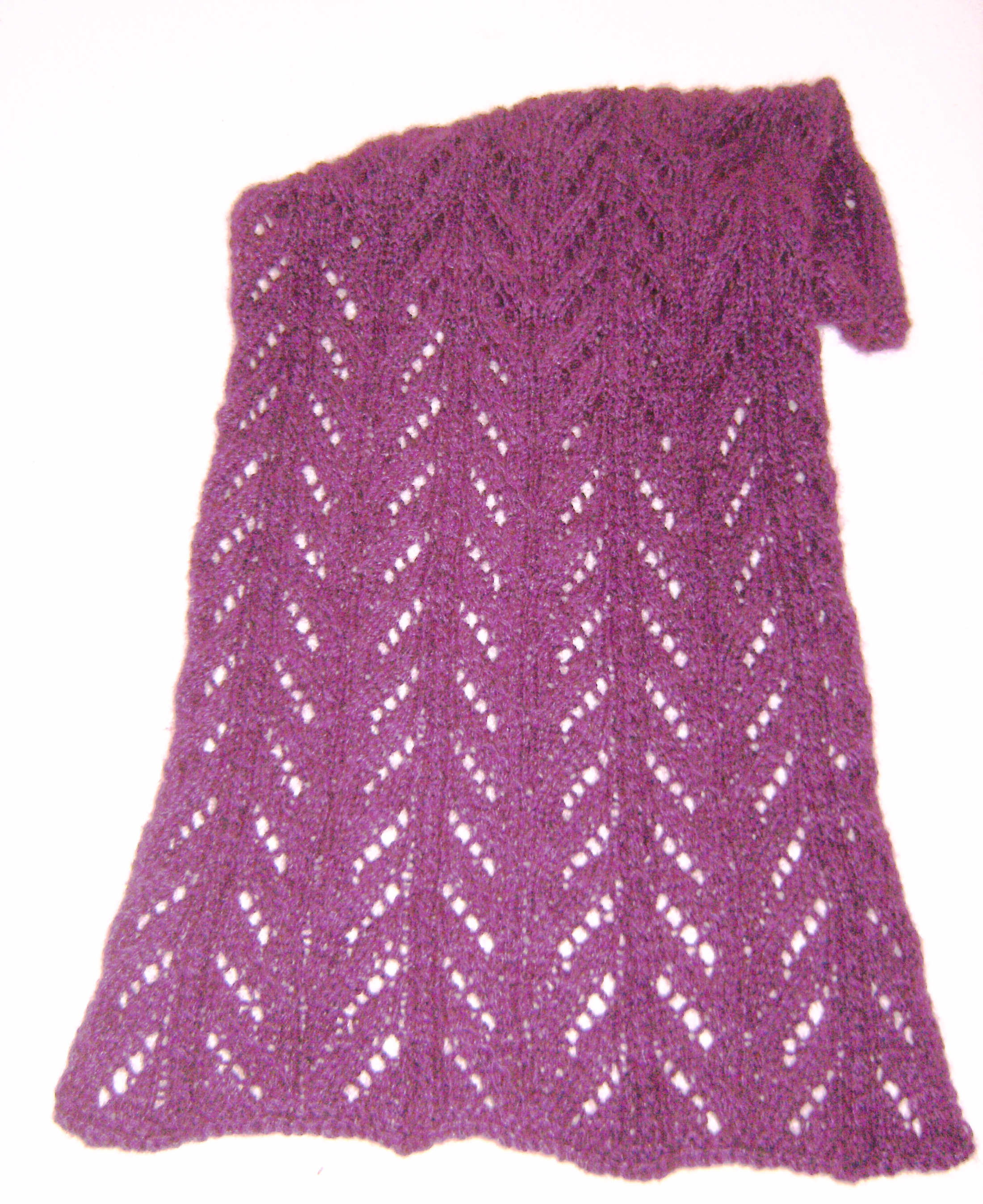 Curly Q Scarf--Knitting Loom Pattern (eBooks)